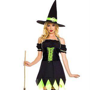 2 pc Cute Halter Witch Dress Halloween Costume